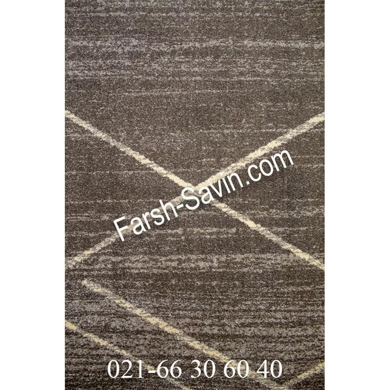 فرش ساوین 4083 طوسی فرش ارزان