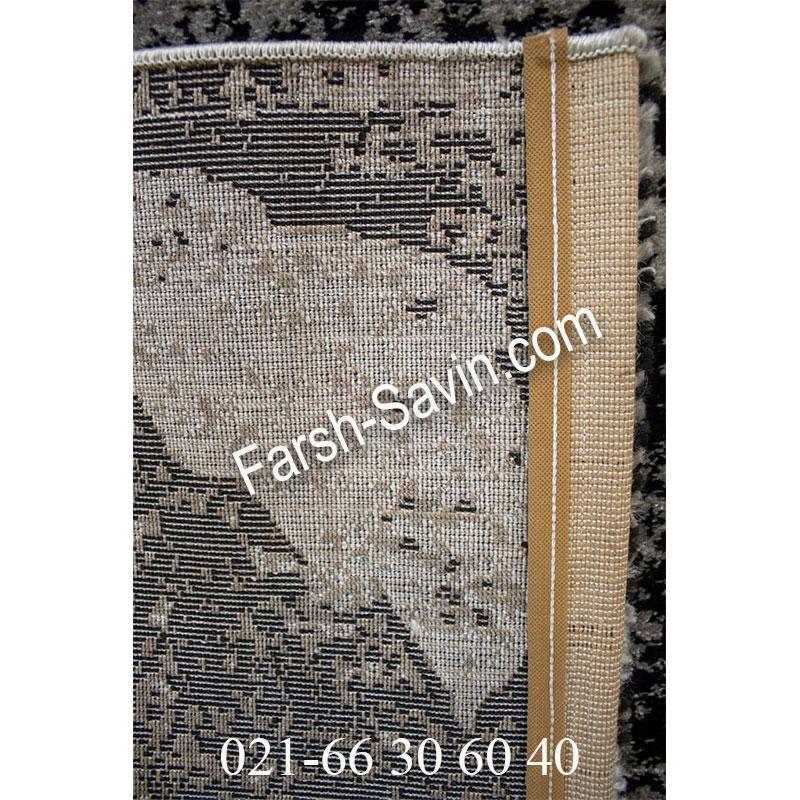 فرش ساوین 4089 مشکی فرش شیک