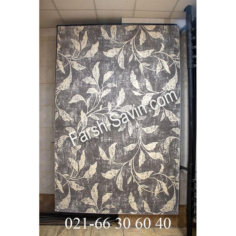 فرش ساوین 4089 طوسی فرش آشپزخانه