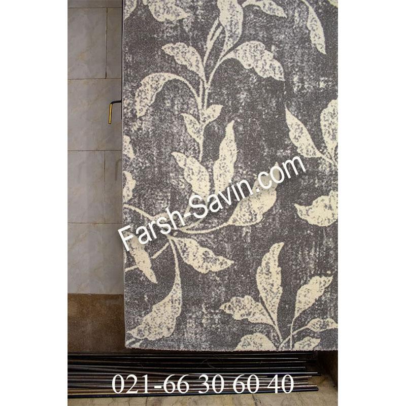 فرش ساوین 4089 طوسی فرش خاص