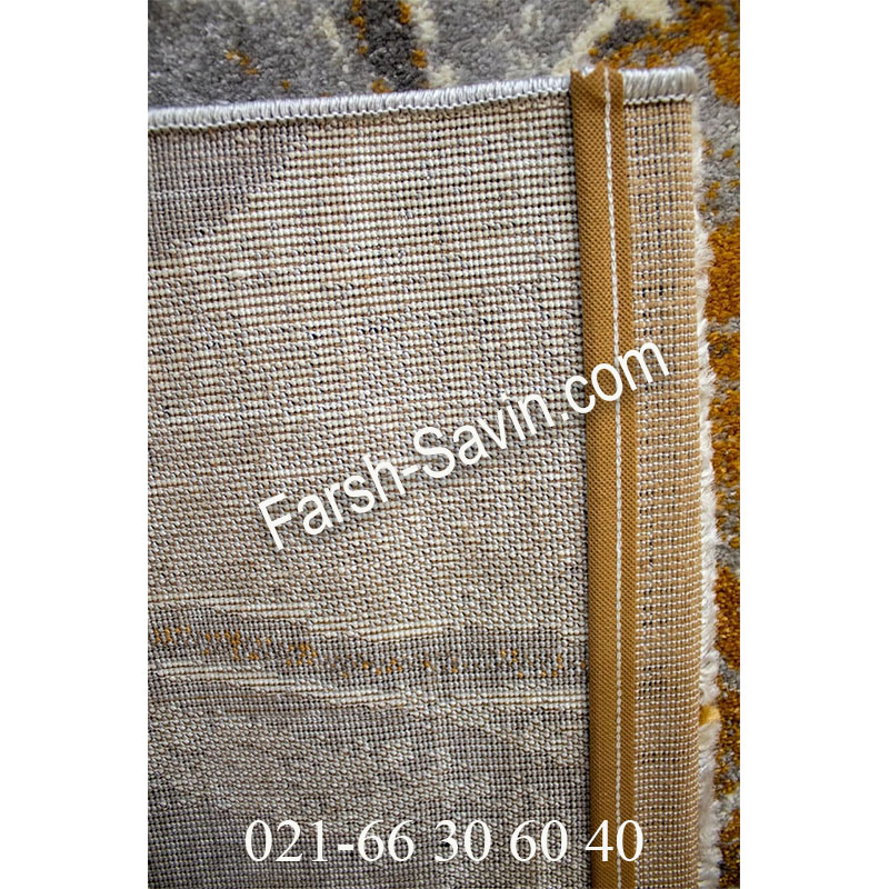 فرش ساوین 4090 عسلی فرش خاص