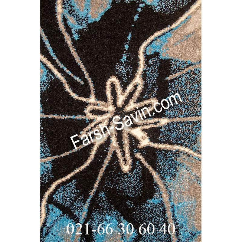 فرش ساوین 4090 آبی فرش پرفروش