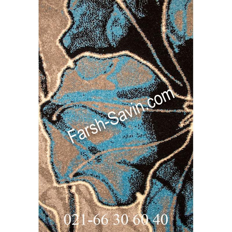 فرش ساوین 4090 آبی فرش بادوام