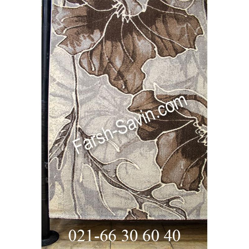 فرش ساوین 4090 کرم فرش ارزان