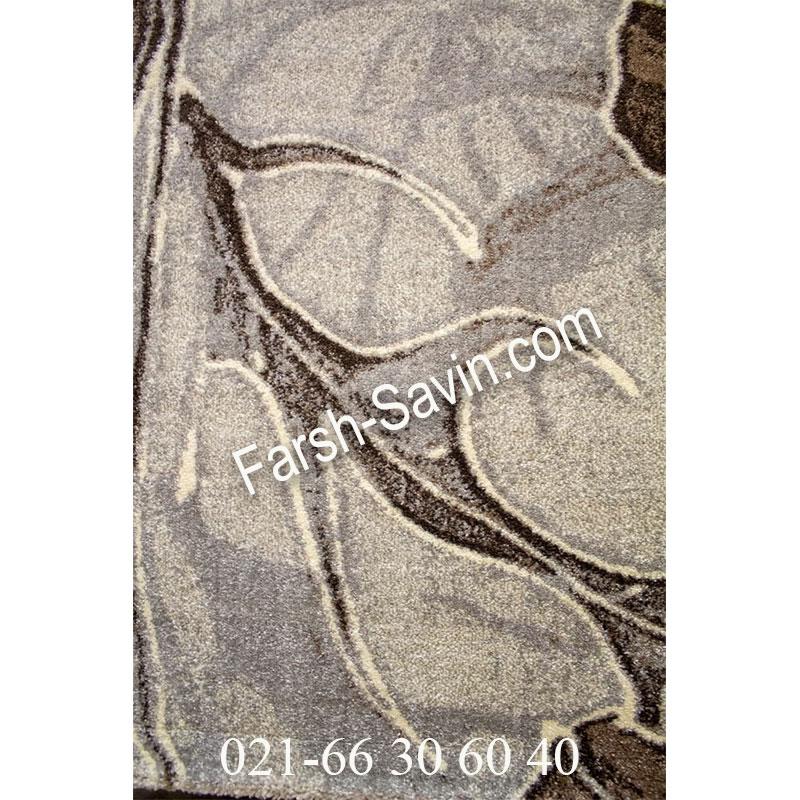 فرش ساوین 4090 کرم فرش مدرن