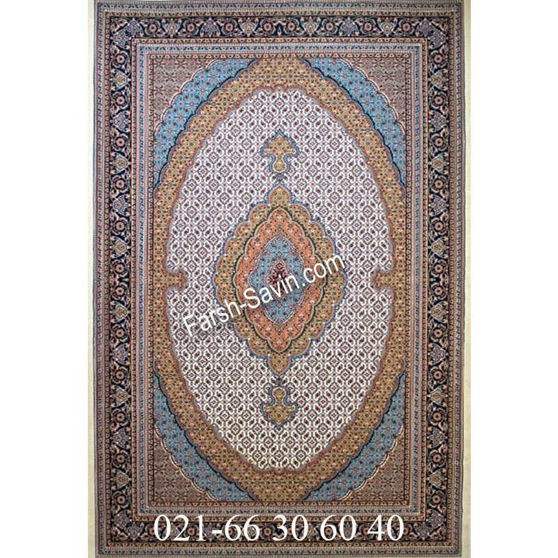 فرش ساوین 4500 کرم فرش ارزان