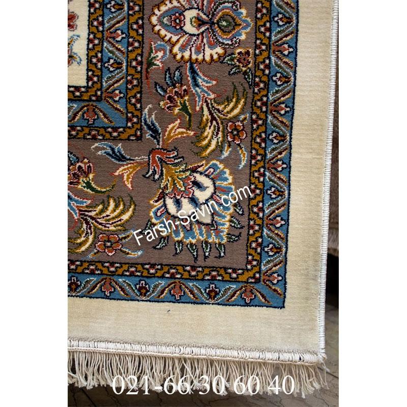 فرش ساوین 4501 کرم فرش کلاسیک