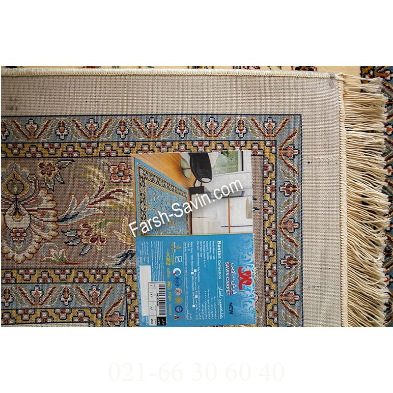 فرش ساوین 4501 کرم فرش خاص
