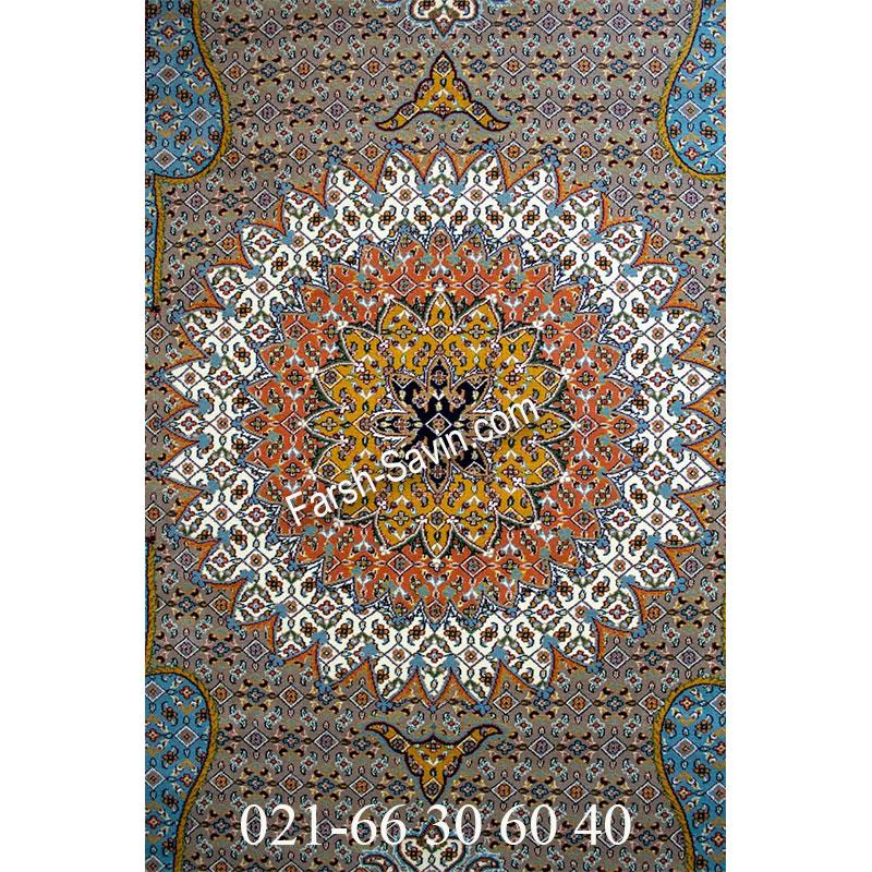 فرش ساوین 4502 شتری فرش کلاسیک