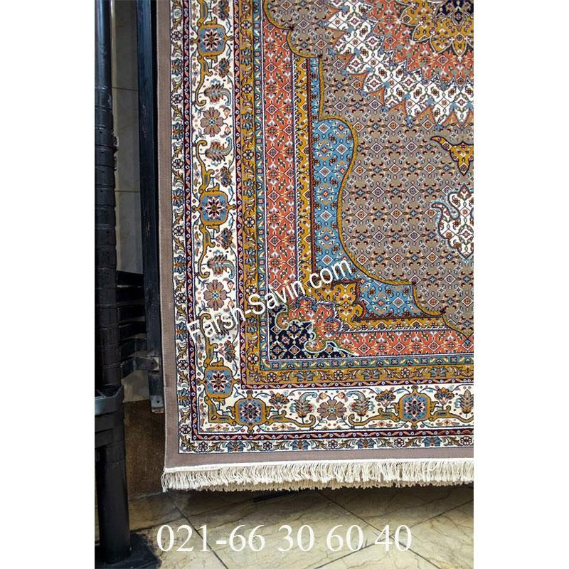 فرش ساوین 4502 شتری فرش پرفروش