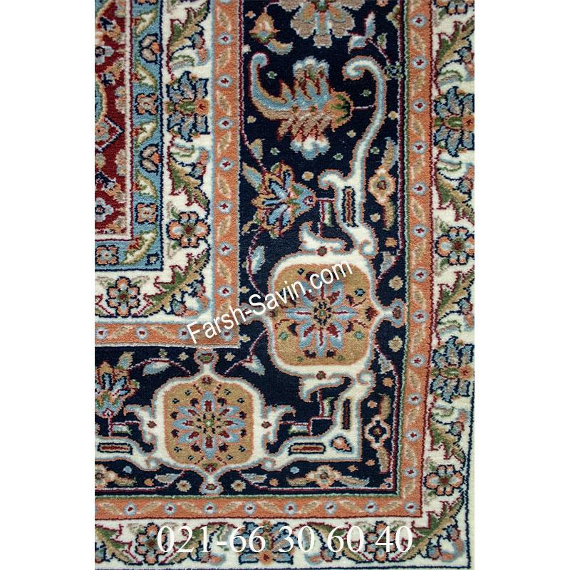 فرش ساوین 4502 کرم فرش کلاسیک