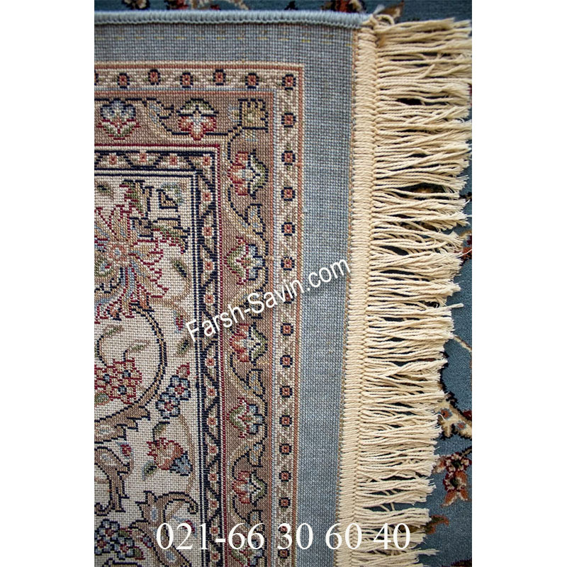 فرش ساوین 4503 آبی فرش خوش نقشه