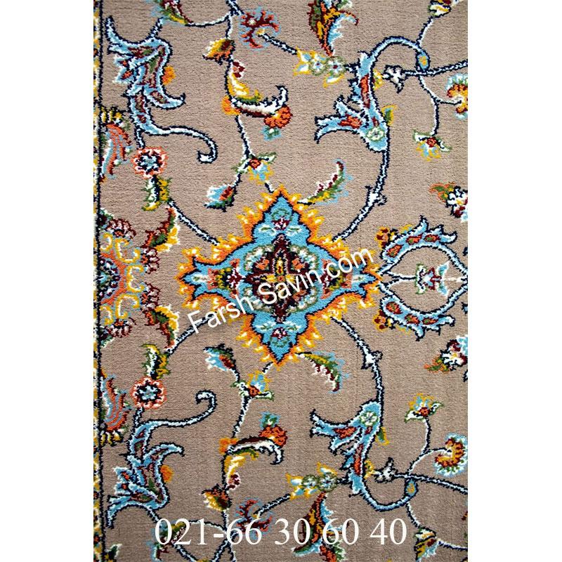 فرش ساوین 4503 شتری فرش زیبا