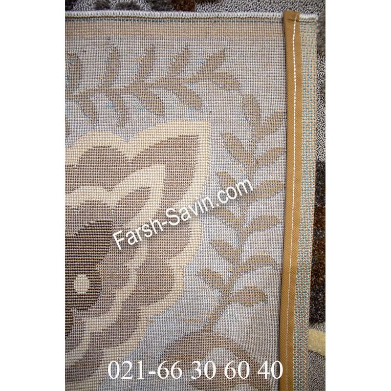 فرش ساوین 4505 شتری فرش زیبا