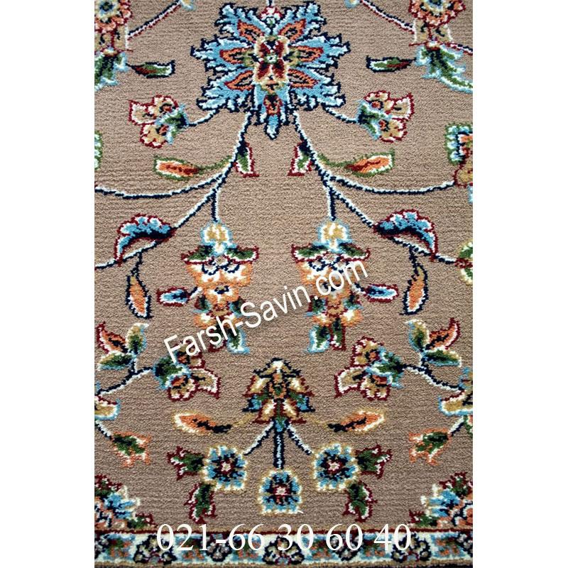 فرش ساوین 4505 شتری فرش خوش رنگ