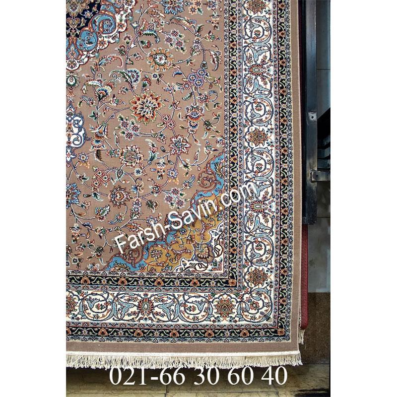 فرش ساوین 4505 شتری فرش کلاسیک