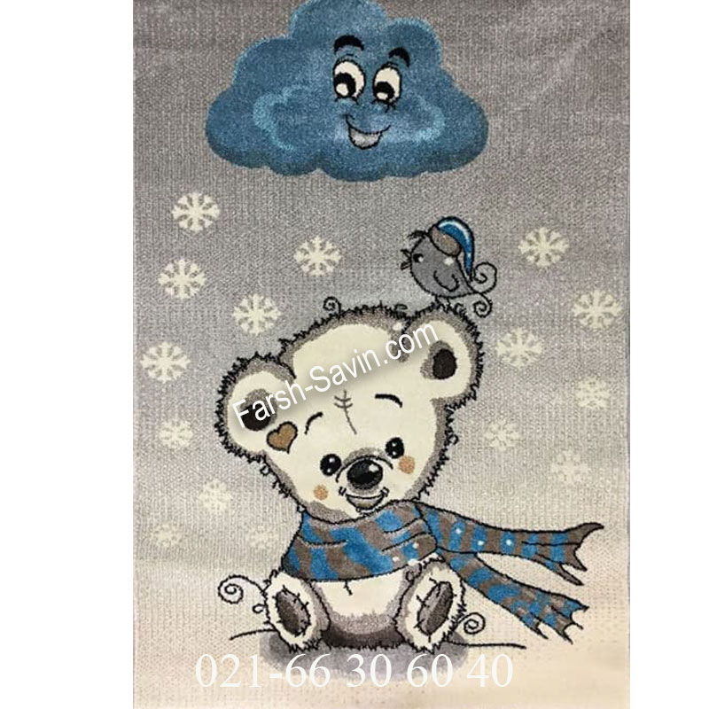 فرش ساوین خرس برفی فرش شکیل