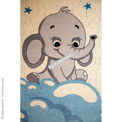 فرش ساوین 4049 فیل مهربان اتاق کودک