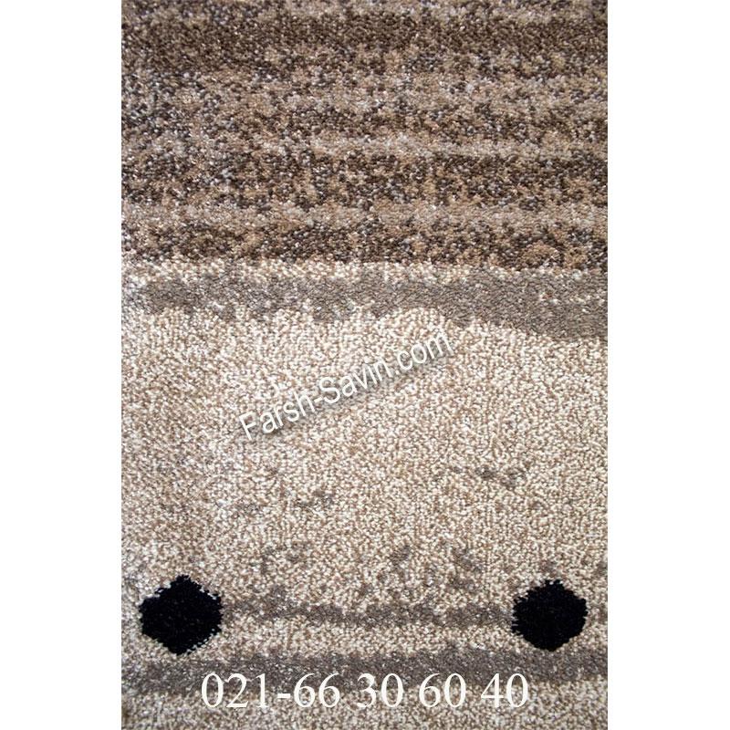 فرش ساوین 4002 شکلاتی فرش سنتی