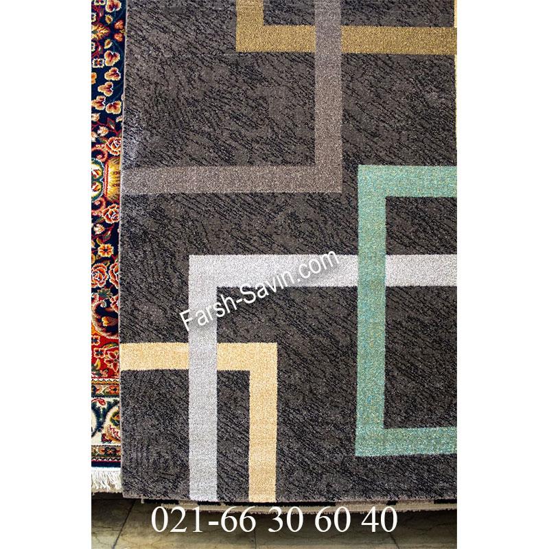 فرش ساوین 4003 نسکافه ای فرش پرفروش