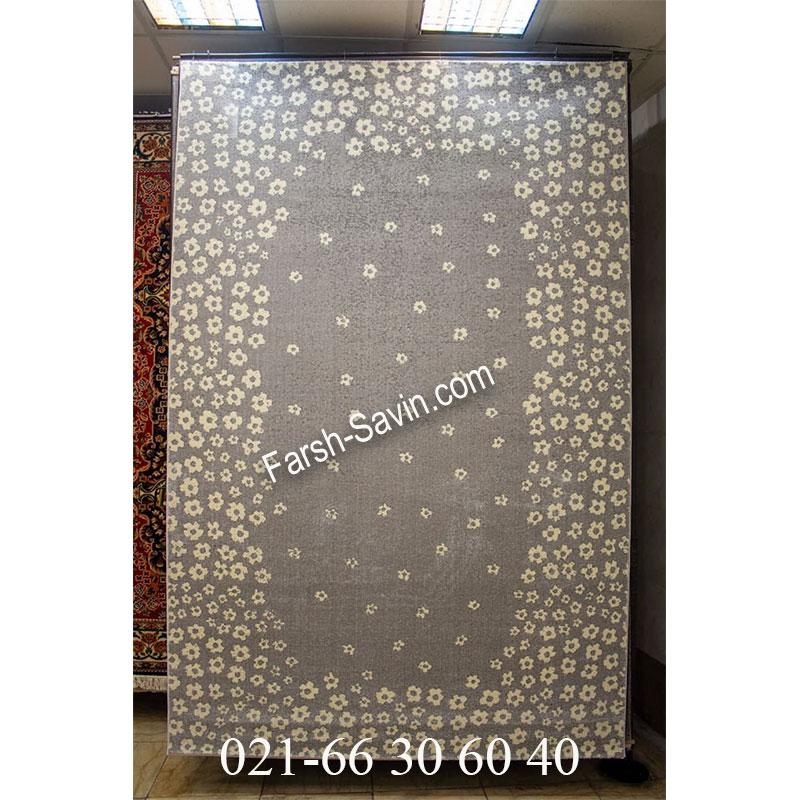 فرش ساوین 4007 نقره ای فرش با کیفیت
