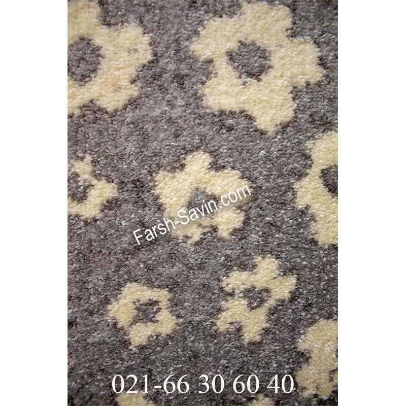 فرش ساوین 4007 نقره ای فرش ارزان