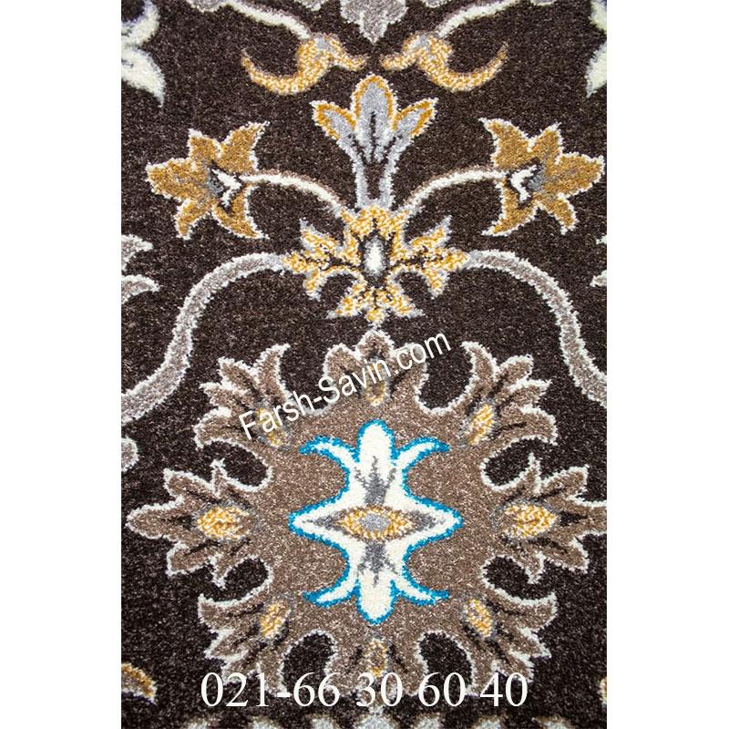فرش ساوین 4041 نسکافه ای فرش با کیفیت