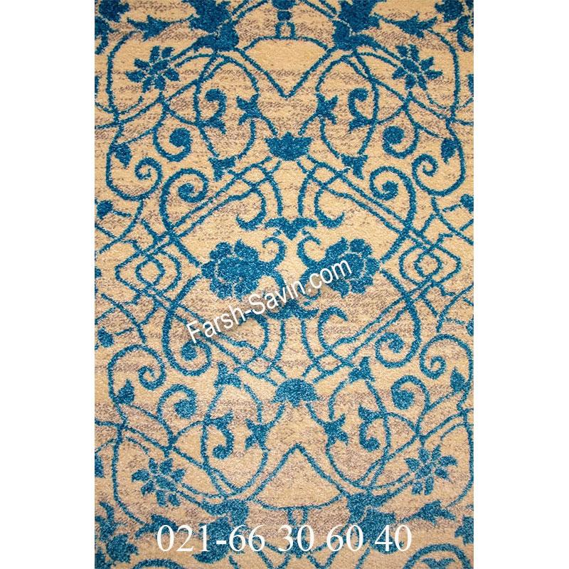 فرش ساوین 4052 کرم فرش خوش رنگ