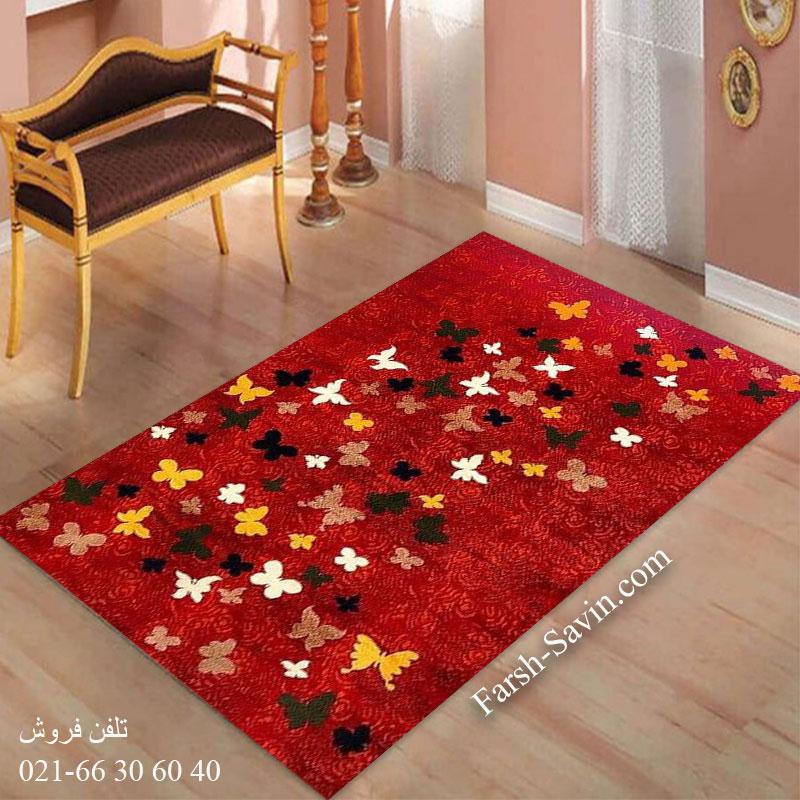 فرش ساوین 4054 لاکی فرش ارزان