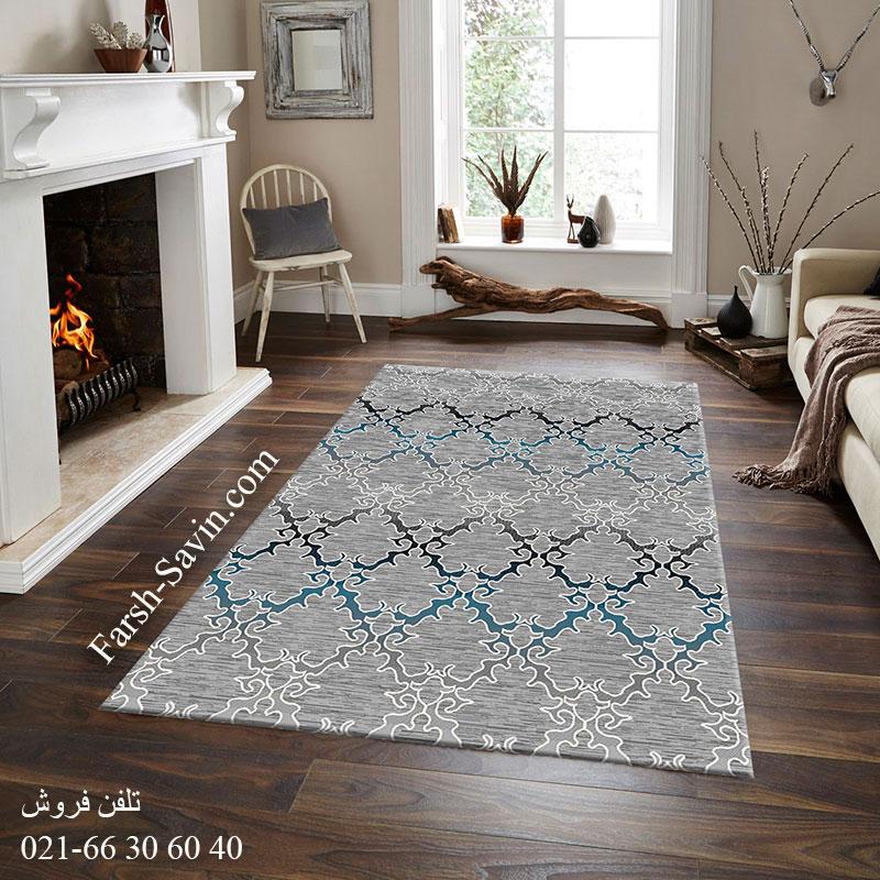 فرش ساوین 4072 طوسی فرش قشقایی