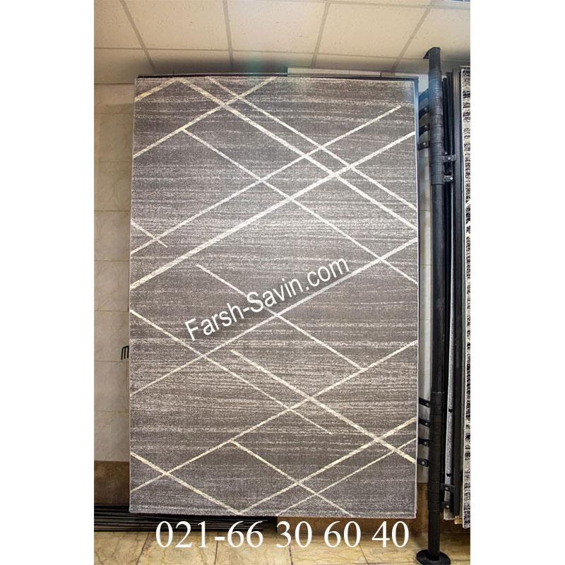 فرش ساوین 4083 طوسی فرش اتاق پذیرایی