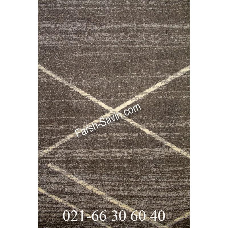 فرش ساوین 4083 طوسی فرش آشپزخانه