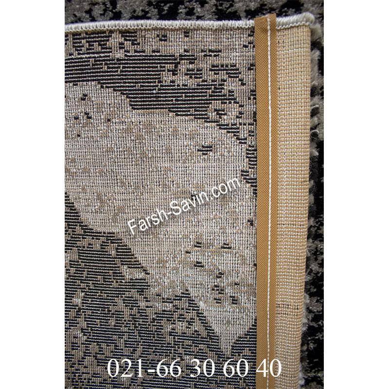 فرش ساوین 4089 مشکی فرش مدرن
