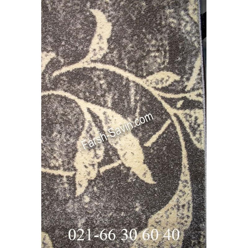 فرش ساوین 4089 طوسی فرش اصیل