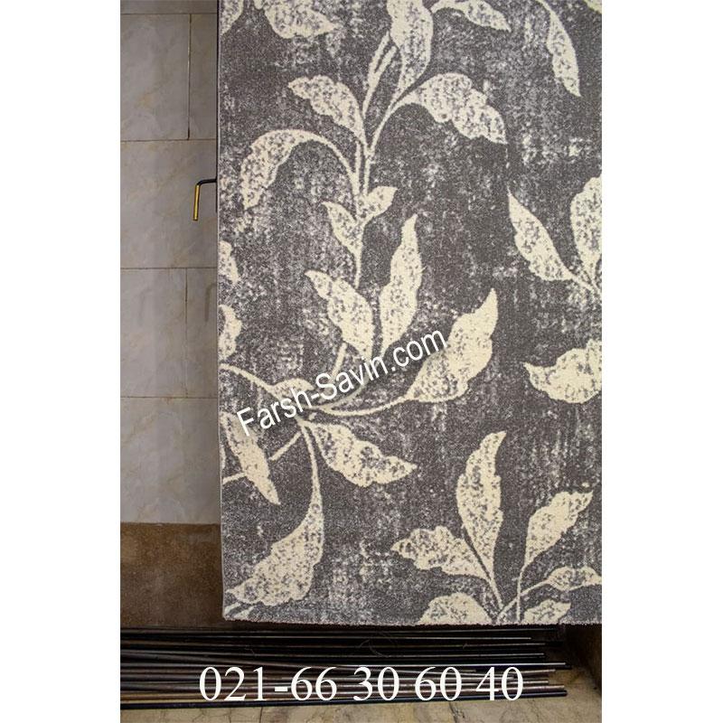 فرش ساوین 4089 طوسی فرش زیبا