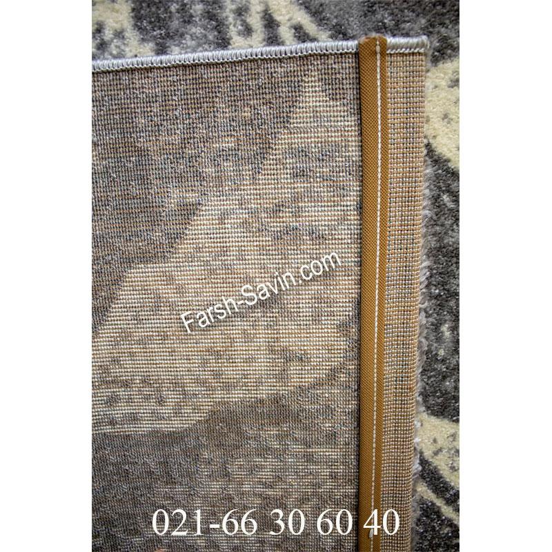فرش ساوین 4090 طوسی فرش اتاق پذیرایی