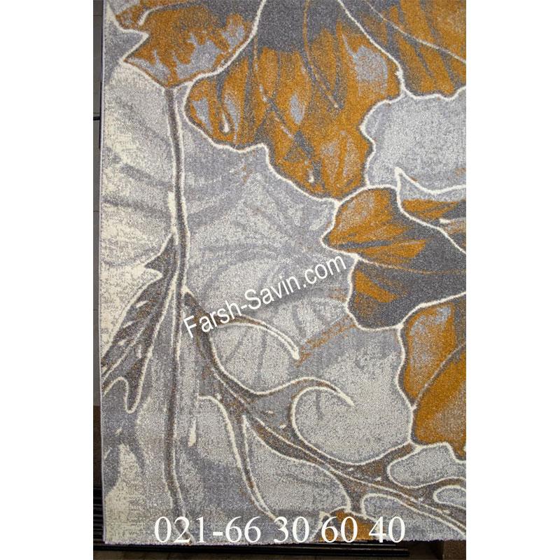 فرش ساوین 4090 عسلی فرش ارزان