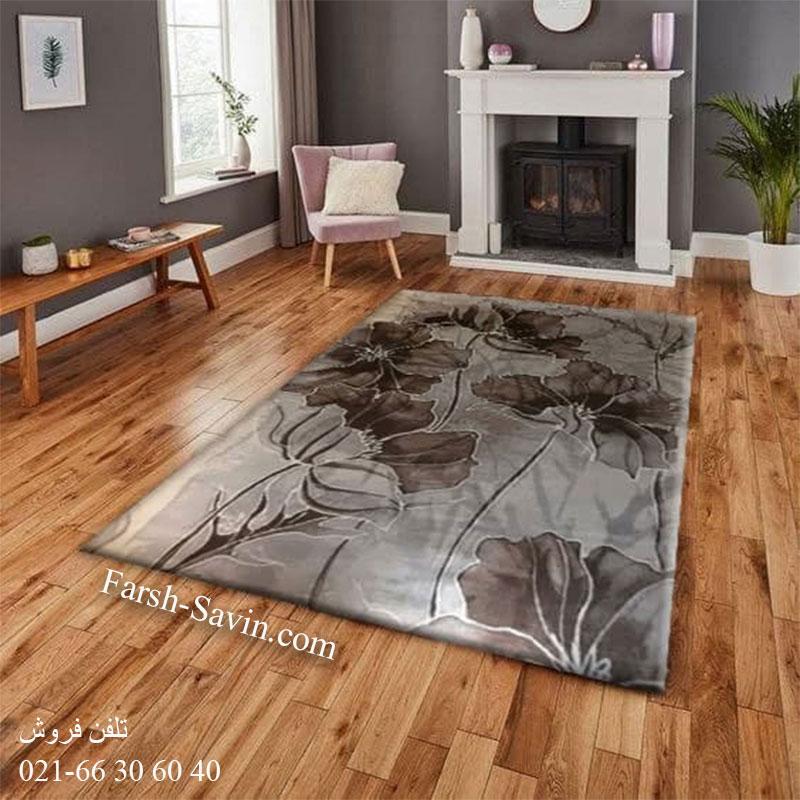 فرش ساوین 4090 کرم فرش گبه