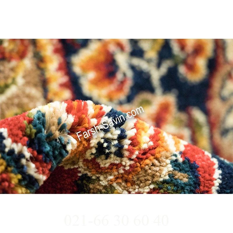 فرش ساوین افشار کرم فرش سنتی