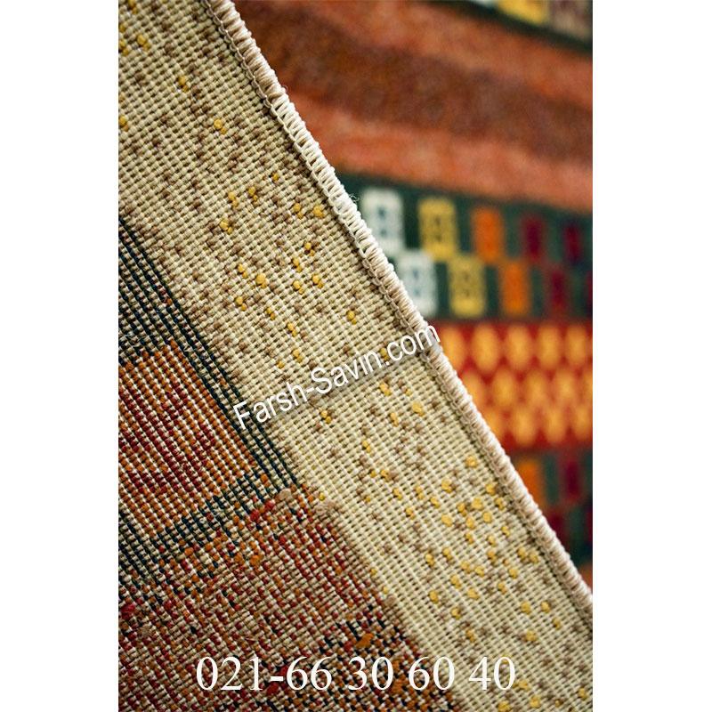 فرش ساوین زنبق کرم فرش خوش نقشه