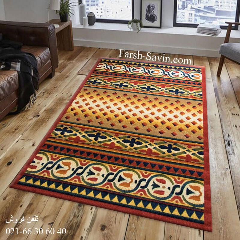 فرش ساوین ارکیده لاکی فرش خوش نقشه