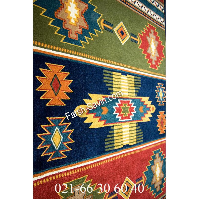 فرش ساوین نیایش سرمه ای فرش سنتی