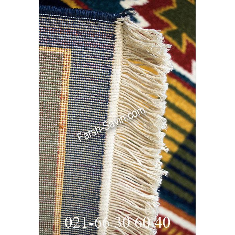 فرش ساوین نیایش سرمه ای فرش با کیفیت