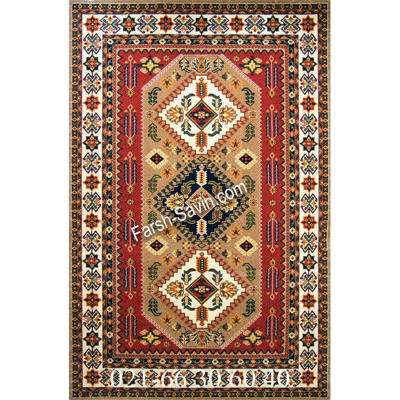 فرش ساوین آنیتا شکلاتی فرش سنتی