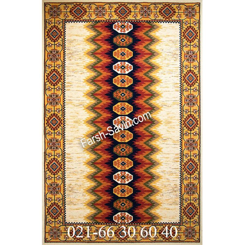 فرش ساوین پریناز کرم فرش سنتی