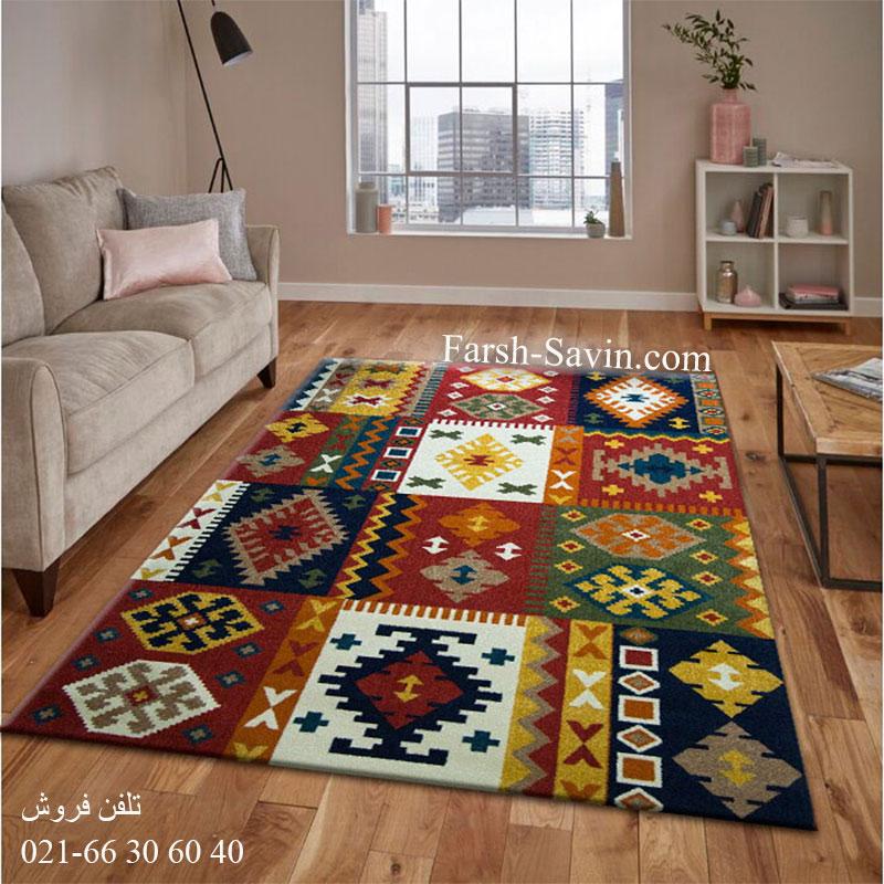 فرش ساوین کوکب لاکی فرش سنتی